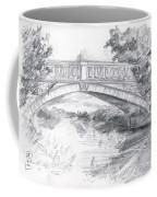Bridge Over The River White Cart Coffee Mug by Brandy Woods
