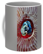 Bright Blue Coral Flower Coffee Mug