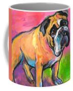 Bright Bulldog Portrait Painting  Coffee Mug