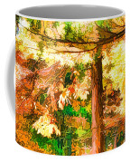 Bright Colored Leaves On The Branches In The Autumn Forest Coffee Mug