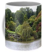 Bright Colors Of Autumn Trees On A Lake , Autumn Landscape. Coffee Mug