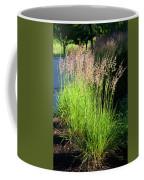 Bright Green Grass By The Pond Coffee Mug