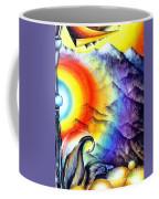 Bright Rainbow And Mountains. Cyborg's Land Coffee Mug