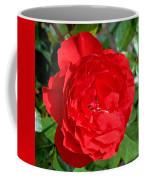 Bright Red Rose At Pilgrim Place In Claremont-california  Coffee Mug