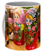 Bright Russian Matrushka Puzzle Dolls Coffee Mug