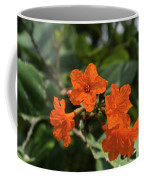 Brilliant Orange Tropical Flower Coffee Mug