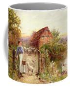 Bringing Home The Sheep Coffee Mug