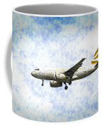 British Airways A319 Feather Design Art Coffee Mug