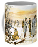 British And German Soldiers Hold A Christmas Truce During The Great War Coffee Mug