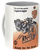British James Comet Motorcycle  1948 Coffee Mug
