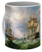 British Men-o'-war Sailing Into Cork Harbour  Coffee Mug