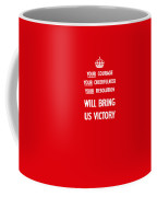 British Ww2 Propaganda Coffee Mug by War Is Hell Store