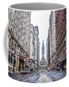 Broad Street Facing City Hall In Philadelphia Coffee Mug