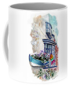 Broadies By The Sea In Staithes Coffee Mug