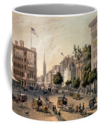 Broadway In The Nineteenth Century Coffee Mug by Augustus Kollner