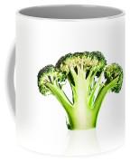 Broccoli Cutaway On White Coffee Mug