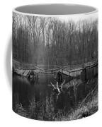 Broken Bridges In Black And White Coffee Mug
