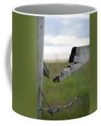 Broken Fence Stormy Skies Coffee Mug