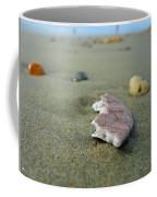 Broken Sand Dollar - Low Tide At Manhattan Beach Coffee Mug