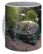 Bronze Turtle Dragon Sculpture Coffee Mug