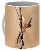 Bronzed Oak Leaf Vertical Coffee Mug