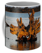 Bronzed Wood Coffee Mug