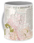 Brooklyn 1893 Map Coffee Mug