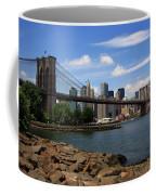 Brooklyn Bridge - New York City Skyline Coffee Mug
