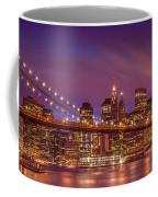 Brooklyn Bridge Sunset - Panorama Coffee Mug