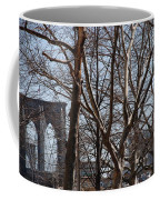 Brooklyn Bridge Thru The Trees Coffee Mug