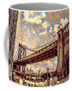 Brooklyn Bridge Watercolor Coffee Mug