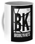 Brooklyn Nets City Poster Art Coffee Mug
