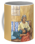 Brother Wolf - Grandmother's Lap Coffee Mug by Brandy Woods