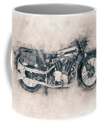 Brough Superior Ss100 - 1924 - Motorcycle Poster - Automotive Art Coffee Mug