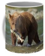 Brown Bear With Salmon Coffee Mug