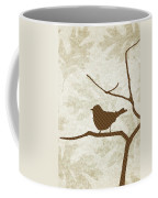 Brown Bird Silhouette Modern Bird Art Coffee Mug