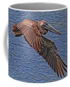 Brown Pelican Flyby Coffee Mug