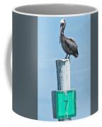 Brown Pelican On Marker 7 Coffee Mug