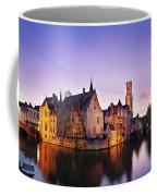 Bruges At Dusk Coffee Mug by Barry O Carroll