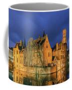 Bruges At Night, Belgium Coffee Mug