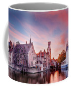 Bruges Sunset Coffee Mug by Barry O Carroll