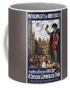 Brussels Commercial Fair Poster - Retro Poster - Vintage Travel Advertising Poster Coffee Mug