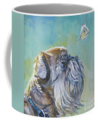 Brussels Griffon With Butterfly Coffee Mug