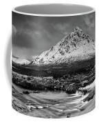 Buachaille Winter Panorama Mono Coffee Mug