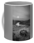 Bubbling Hot Spring In Yellowstone National Park Bw Coffee Mug