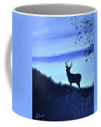 Buck Silhouette In Blue Coffee Mug