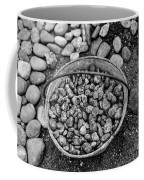 Bucket Of Rocks In Black And White Coffee Mug