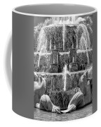 Buckingham Fountain Closeup Black And White Coffee Mug
