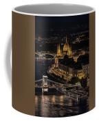 Budapest View At Night Coffee Mug
