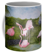 Buddah And The Flamingos Coffee Mug